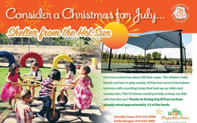 Consider a Christmas for July… Shelter from the hot sun