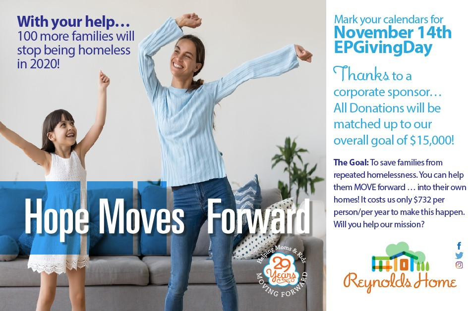 Reynolds Home Giving Day Awareness