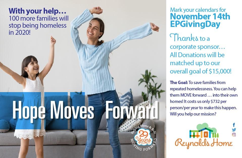 Reynolds Home Giving Day Awareness